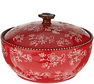 Temp-tations Floral Lace 3qt Round Baker with Domed Lid - K46073
