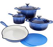 Cooks Essentials 7-pc. Gradient Cast Iron Cookware Set - K46573