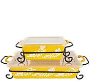 Valerie Bertinelli 4-Piece Bake & Serve Set w/ Lids - K46773