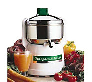 Omega Model 9000 Stainless Steel Juicer - K116574