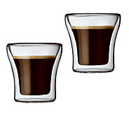 Bodum Assam Set of 2 Double Wall Espresso Glasses - K297674
