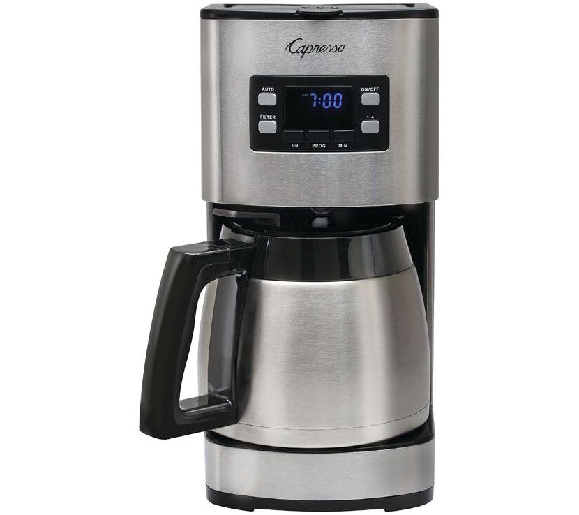 Capresso ST300 12-Cup Stainless Steel Coffee Maker QVC.com