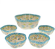 As Is Temp-tations Old World 5 pc. Pasta Bowl Set - K307574
