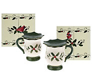 Temp-tations FiguralCardinal Ceramic Covered Mug w/Gift Box - K39674