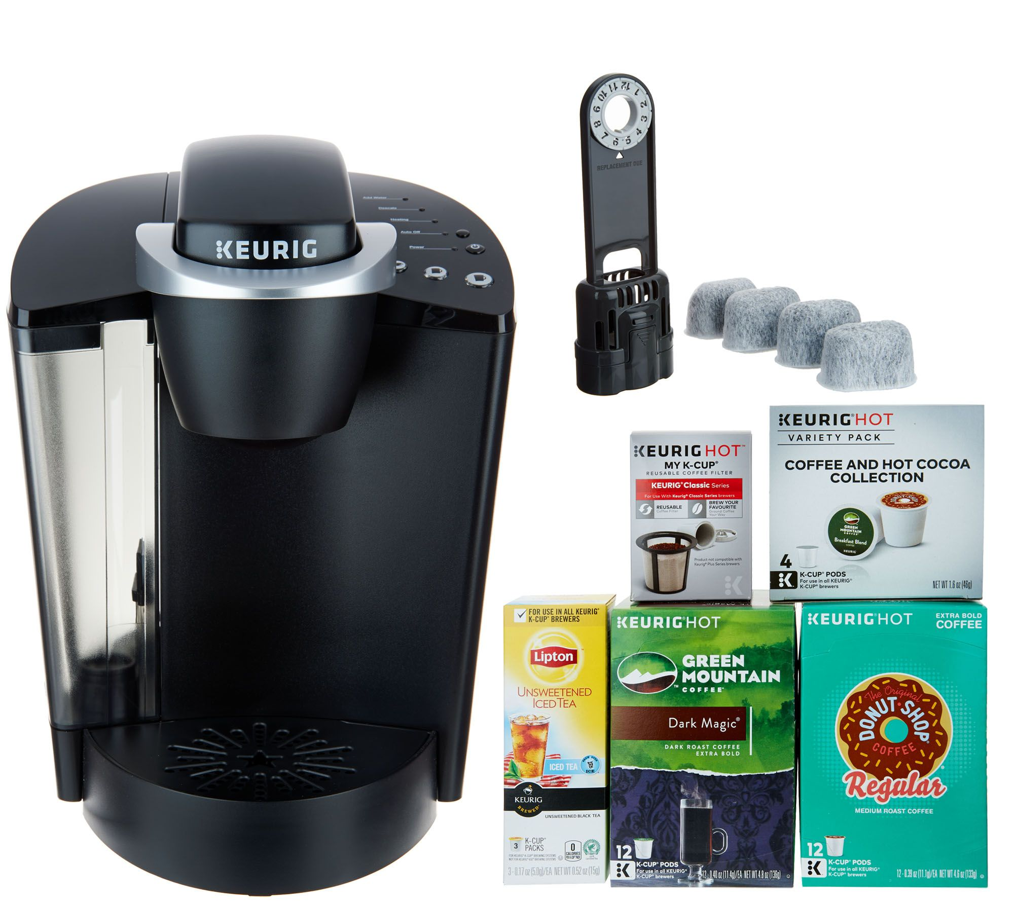 Keurig K55 Coffee Maker with My K-Cup, 31 K-Cup Pods & Water ...