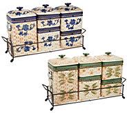 Temp-tations Basketweave Ceramic Canister Set - K46974