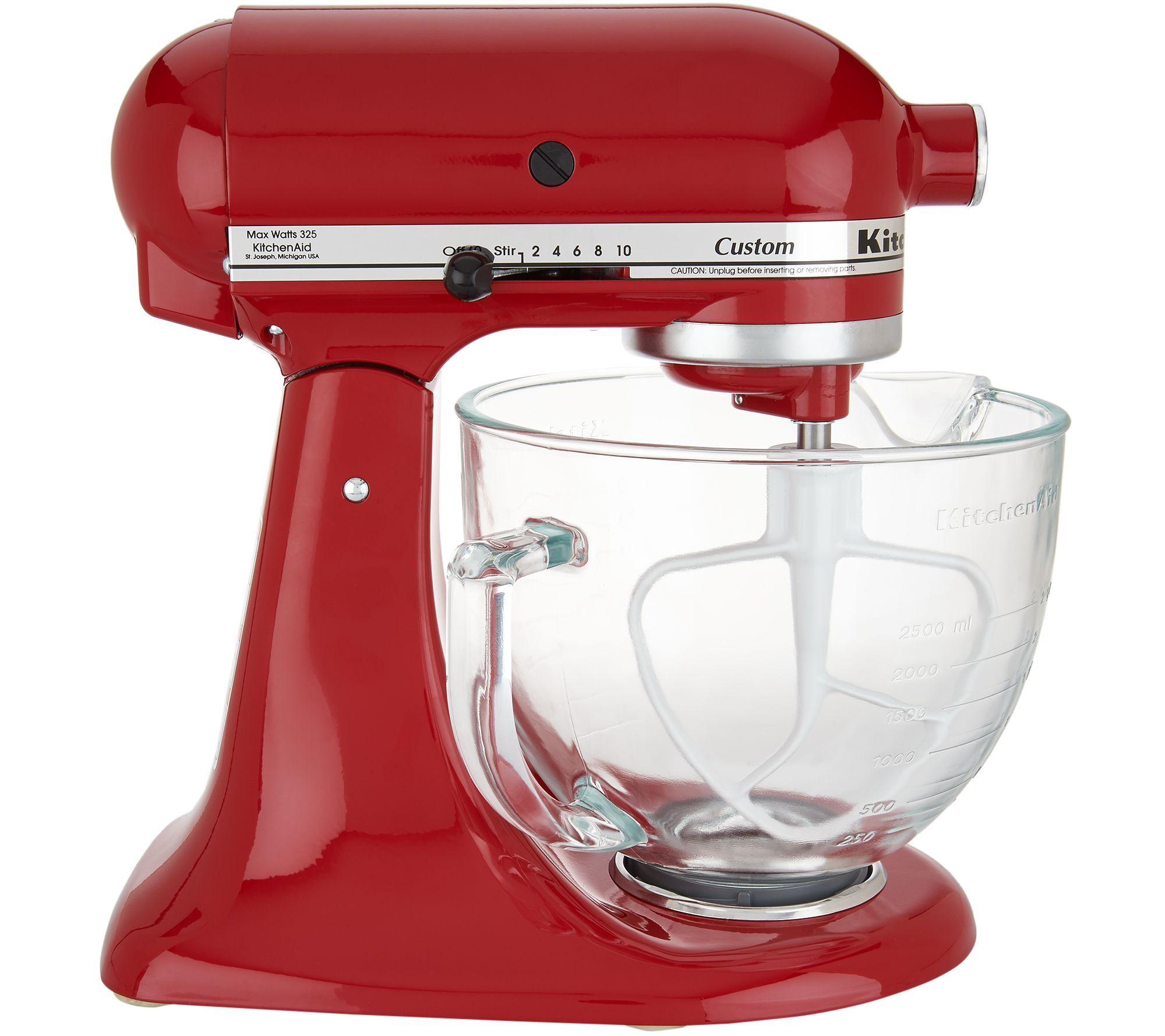 KitchenAid 5-qt 325W Tilt Head Stand Mixer w/ Glass Bowl & Flex Edge ...