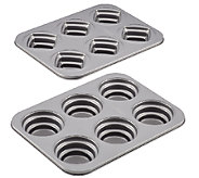 Cake Boss 2-Piece Round & Square Mini Stacked Cakelette Pans - K303075