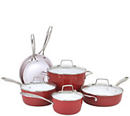Oneida 10-Piece Forged Aluminum Cookware Set -Red Clay - K305075