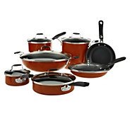 As Is Emeril by All-Clad 13 pc. Hard Enamel Cookware Set - K307475