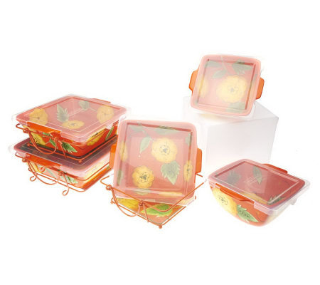 Temp-tations Poppy Passion 11-pc. Oven-to- Table Set