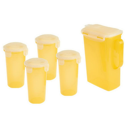 Lock & Lock 5-Piece Pitcher and Tumbler Storage Set