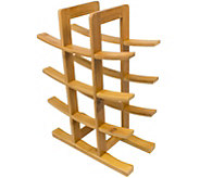 Sorbus Bamboo 12-Bottle Wine Rack - Natural - K374775