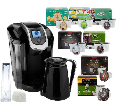 Keurig 2.0 K350 Coffee Maker w/ 54 K-Cup Packs, 8 K-Carafe Packs & Filter - Page 1 QVC.com