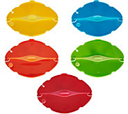 Dreamfarm Set of 5 Multi-Color Savels Flexible Food Savers - K44575