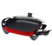 Elite Gourmet 12 x 12 Electric Skillet with Glass Lid - K302976