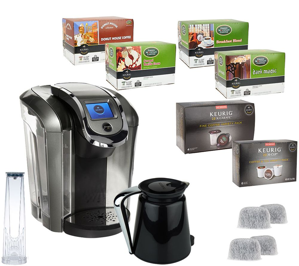 keurig 20 k550 coffee maker w 54 kcup packs 4 kcarafe packs u0026 filters page 1 u2014 qvccom
