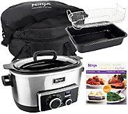 4-in-1 Ninja Cooking System w/ Recipe Book, Bake Pan & Travel Bag - K42776