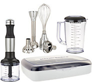 KitchenAid 5 Speed Hand Blender with Attachments and Storage Case - K45576