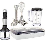 KitchenAid 5 Speed Hand Blender with Attachments and Storage Case - K45576