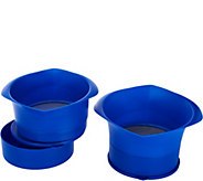 Set of 2 Grease Strainers with Bowls & Lids - K45776