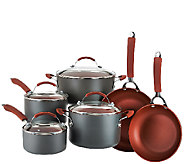 As Is CooksEssentials Hard Anodized 10-Piece Cookware Set - K307377