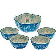 As Is Temp-tations Floral Lace 5 pc. Pasta Bowl Set - K307577