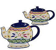 Temp-tations Old World Set of 2 Teapot Spoon Rests - K377377