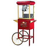 Red Princeton 8-oz Antique-Style Popcorn Machine and Cart - K131878