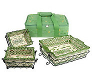 Temp-tations Old World 9-pc. Set w/Thermal Embroidered Carrier Tote - K23378