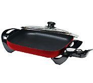 Elite Gourmet 15 x 12 Electric Skillet with Glass Lid - K302978