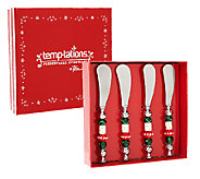 Temp-tations Set of 4 Spreaders with Beaded Handle - K40678