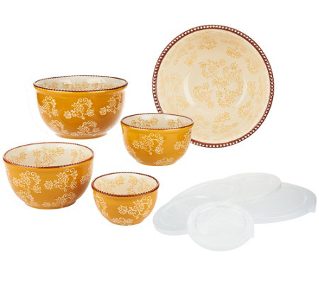 Temp Tations Floral Lace 5 Piece Concentric Bowl Set Qvc Com