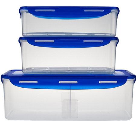 lock lock 3 piece refrigerator storage set. Black Bedroom Furniture Sets. Home Design Ideas