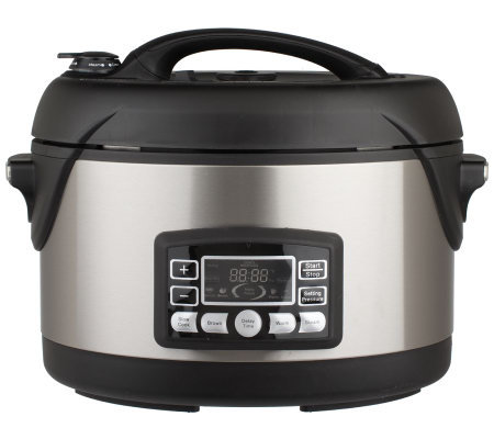 CooksEssentials 6.5 Quart Digital Oval Pressure Cooker