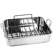 Oneida Stainless Steel Rectangular Roaster withU-Rack - K305079