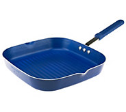 As Is Cooks Essentials 11 Square Grill Pan with Color Smart Nonstick - K307379