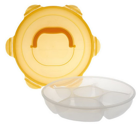 Lock & Lock Serve & Store Chip & Dip w/ Divided Tray