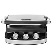 DeLonghi 5-in-1 Electric Grill & Griddle with Ceramic Coating - K376979