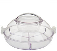 Iced Up Appetizer on Ice Divided Platter w/ Locking Lid - K43379