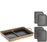 CooksEssentials 7-Pc. Champagne BBQ Grill Pan with Removable Nonstick Plates - K43779
