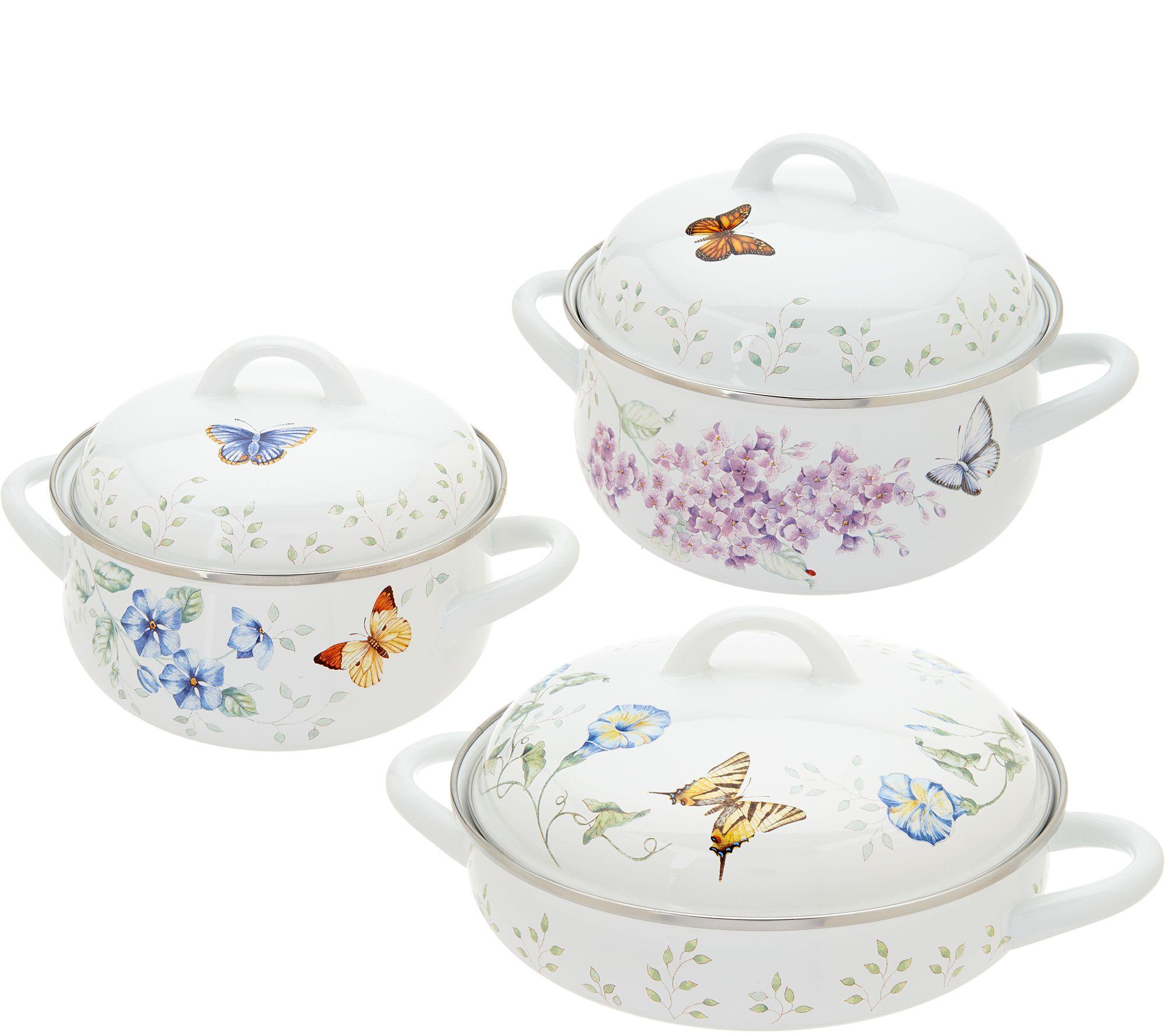 Lenox butterfly meadow 6pc enamel on steel cookware set page 1 - Vaisselle de luxe marque ...