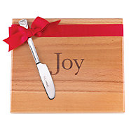 Lenox Joy Cutting Board w/Holiday Spreader - K304380