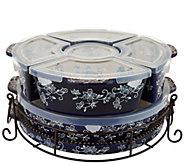As Is Temp-tations Floral Lace 3qt Baker with Ramekins & Lid - K307880