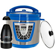 Power Pressure Cooker XLColors 6 qt. Digital w/ Glass Lid & Power Chopper - K43480