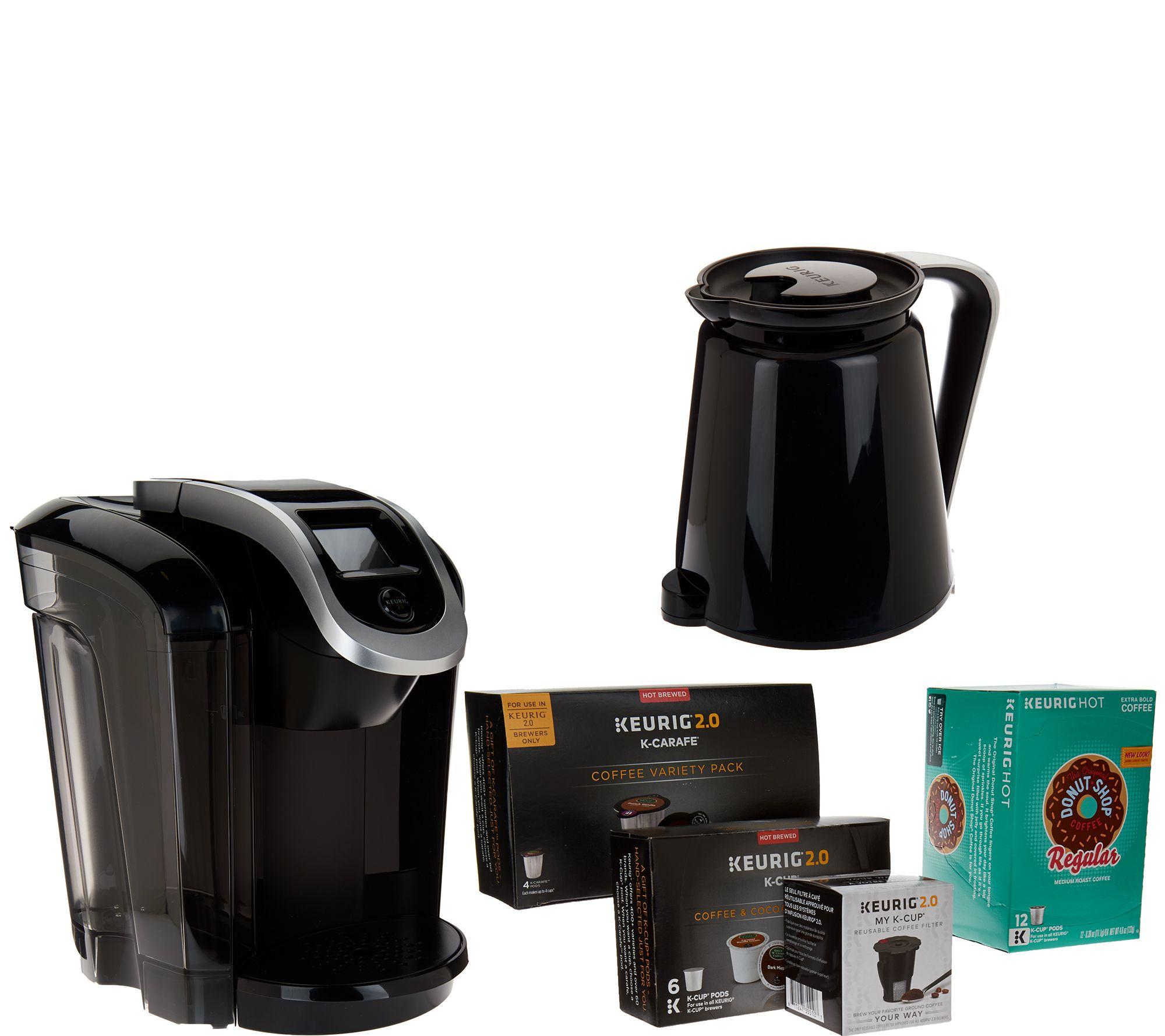 Keurig 2.0 K350 Coffee Maker with My K-Cup, 18 K-Cup Packs, & 4 K-Carafes - Page 1 QVC.com