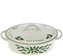 Lenox Holiday Porcelain Covered Casserole - K44480