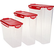 Lock & Lock Set of 3 Cereal Storage Set - K46780