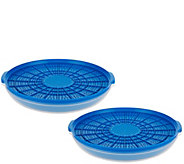 Cooks Essentials S/2 Heat & Serve Ultra Drain Strainers - K42281