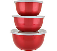 Cooks Essentials Set of 3 Microwave Safe Nesting Bowls - K44981
